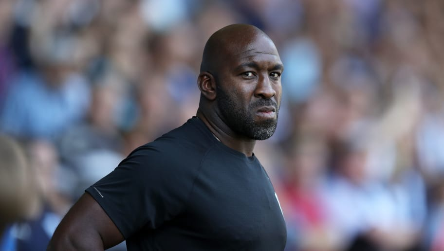 WEST BROMWICH, ENGLAND - SEPTEMBER 01: Darren Moore manager of West Bromwich Albion during the Sky Bet Championship match between West Bromwich Albion and Stoke City at The Hawthorns on September 1, 2018 in West Bromwich, England. (Photo by Lynne Cameron/Getty Images)