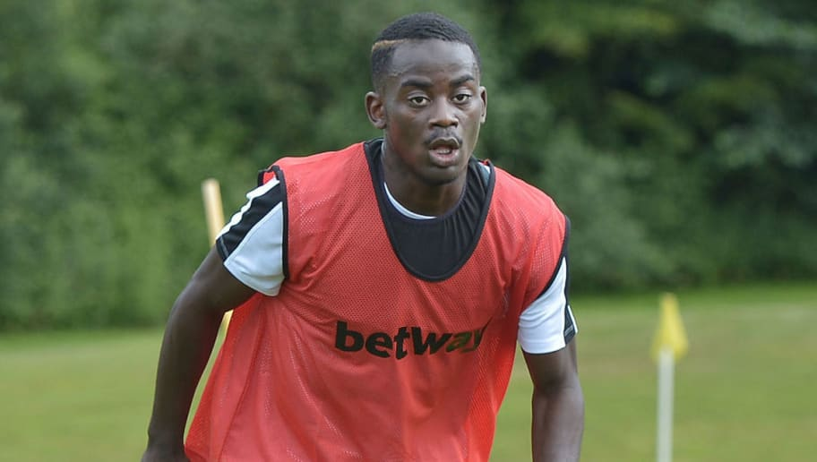 CORK, IRELAND - JUNE 23:  Nathan Mavila during the West Ham United training session taking place during a training camp on June 23, 2015 in Cork, Ireland.  (Photo by Charles H McQuillan/West Ham United via Getty Images)