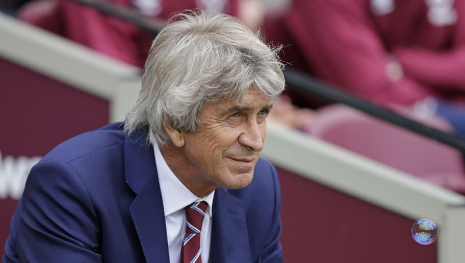LONDON, ENGLAND - AUGUST 18: Manuel Pellegrini of West Ham United during the Premier League match between West Ham United and AFC Bournemouth at London Stadium on August 18, 2018 in London, United Kingdom. (Photo by Henry Browne/Getty Images)
