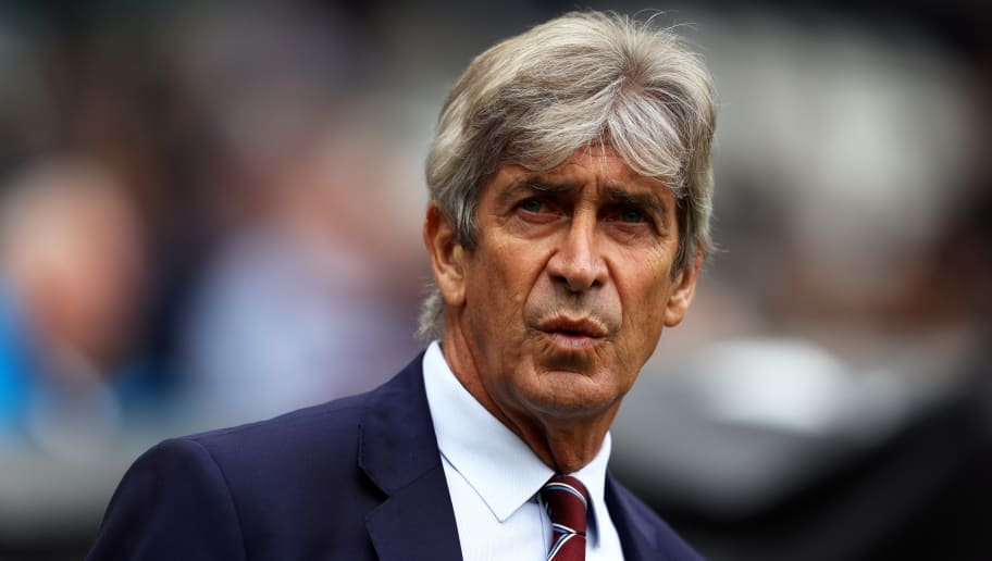 LONDON, ENGLAND - SEPTEMBER 23:  Manuel Pellegrini, Manager of West Ham United looks on prior to the Premier League match between West Ham United and Chelsea FC at London Stadium on September 23, 2018 in London, United Kingdom.  (Photo by Dan Istitene/Getty Images)