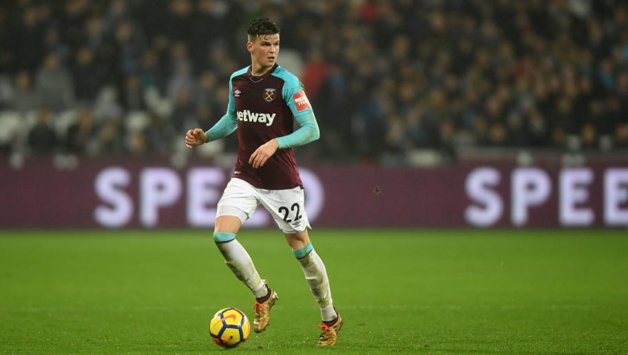 LONDON, ENGLAND - JANUARY 30: Sam Byram of West Ham United in action during the Premier League match between West Ham United and Crystal Palace at London Stadium on January 30, 2018 in London, England.  (Photo by Mike Hewitt/Getty Images)