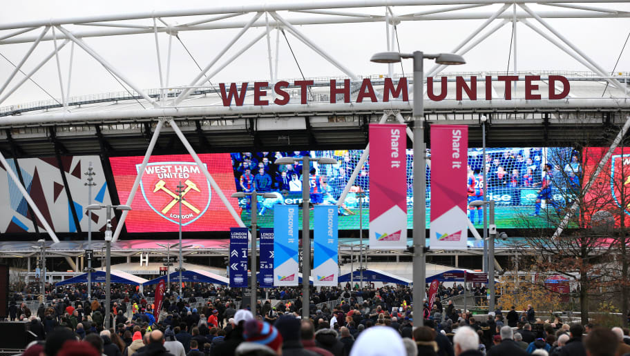LONDON, ENGLAND - DECEMBER 08:  General view outside the stadium prior to the Premier League match between West Ham United and Crystal Palace at London Stadium on December 8, 2018 in London, United Kingdom.  (Photo by Stephen Pond/Getty Images)