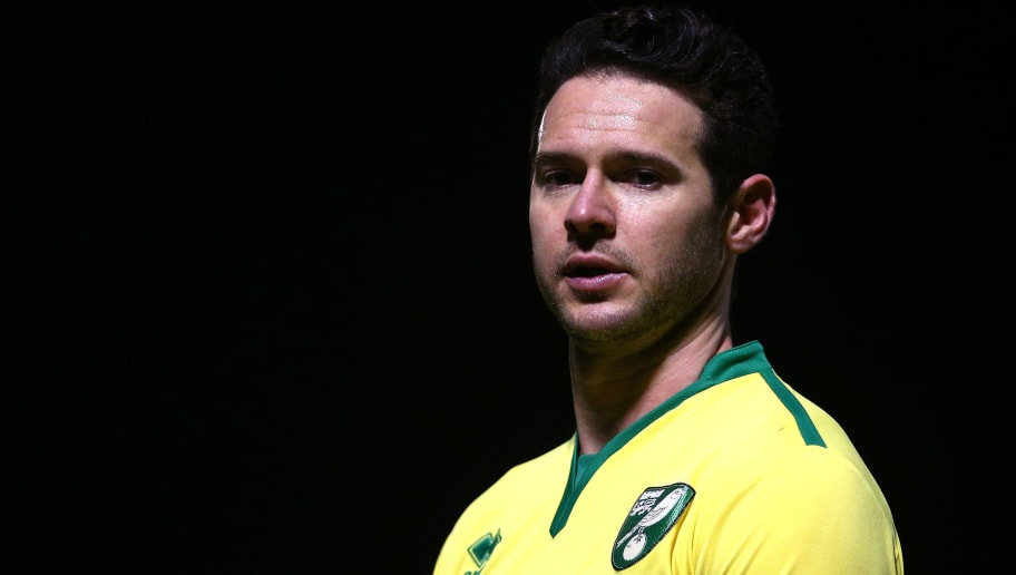 DAGENHAM, ENGLAND - JANUARY 09: Matt Jarvis of Norwich City looks on during the Premier League 2 match between West Ham United and Norwich City at Chigwell Construction Stadium on January 9, 2017 in Dagenham, England.  (Photo by Alex Pantling/Getty Images)