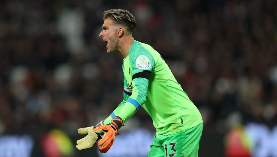 LONDON, ENGLAND - OCTOBER 31: Adrian of West Ham United during the Carabao Cup Fourth Round match between West Ham United and Tottenham Hotspur at London Stadium on October 31, 2018 in London, England. (Photo by Catherine Ivill/Getty Images)