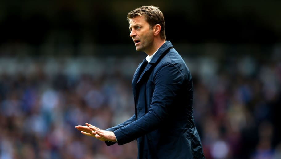 LONDON, ENGLAND - MAY 03:  Tim Sherwood the Spurs manager reacts during the Barclays Premier League match between West Ham United and Tottenham Hotspur at Boleyn Ground on May 3, 2014 in London, England.  (Photo by Paul Gilham/Getty Images)