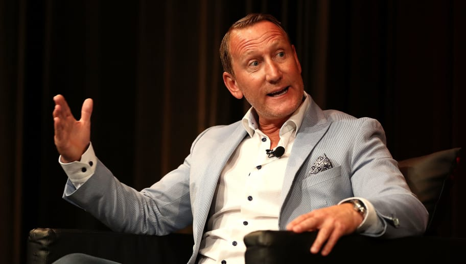 SYDNEY, AUSTRALIA - JULY 14:  Former Arsenal Footballer Ray Parlour speaks during the Western Sydney Wanderers Gold Star Luncheon at The Westin on July 14, 2017 in Sydney, Australia.  (Photo by Ryan Pierse/Getty Images)