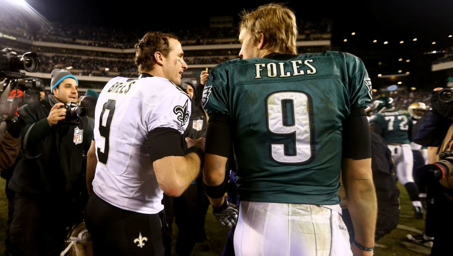 Image result for drew brees nick foles