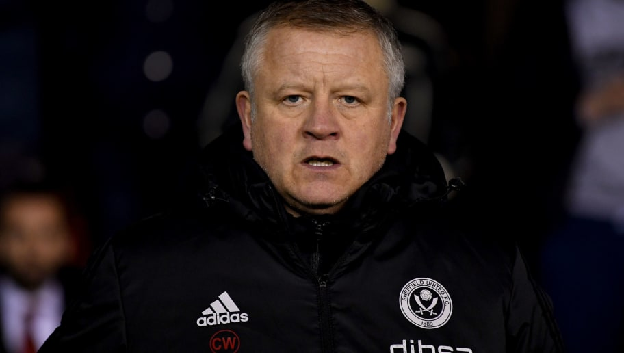 SHEFFIELD, ENGLAND - FEBRUARY 20:  Chris Wilder, Manager of Sheffield United looks on prior to the Sky Bet Championship match between Sheffield United and Queens Park Rangers at Bramall Lane on February 20, 2018 in Sheffield, England.  (Photo by Gareth Copley/Getty Images)