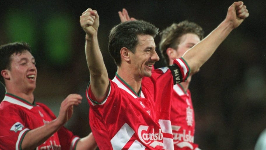 28 FEB 1995:  IAN RUSH OF LIVERPOOL CELEBRATES HIS GOAL, SECOND FOR LIVERPOOL WIMBLEDON V LIVERPOOL. IN THE FA CUP FIFTH ROUND REPLAY AT SELHURST PARK Mandatory Credit: Allsport UK/ALLSPORT