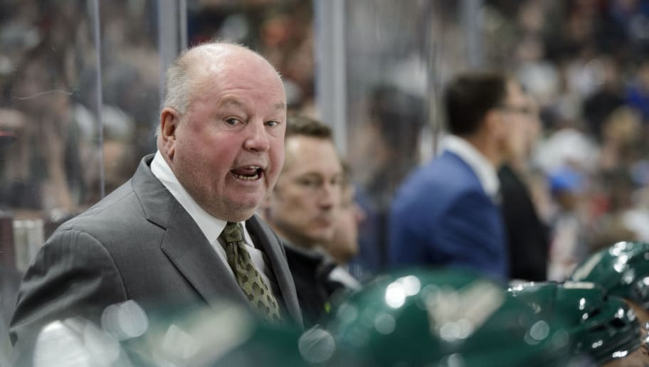 ST PAUL, MN - OCTOBER 15: Head coach Bruce Boudreau of the Minnesota Wild looks on during the game against Winnipeg Jets on October 15, 2016 at Xcel Energy Center in St Paul, Minnesota. (Photo by Hannah Foslien/Getty Images)
