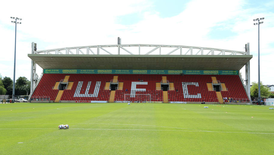 WOKING, ENGLAND - JULY 08: A general view before the pre-season friendly match between Woking and Watford U23 at the Laithwaite Community Stadium on July 08, 2017 in Woking, England. (Photo by Richard Heathcote/Getty Images)