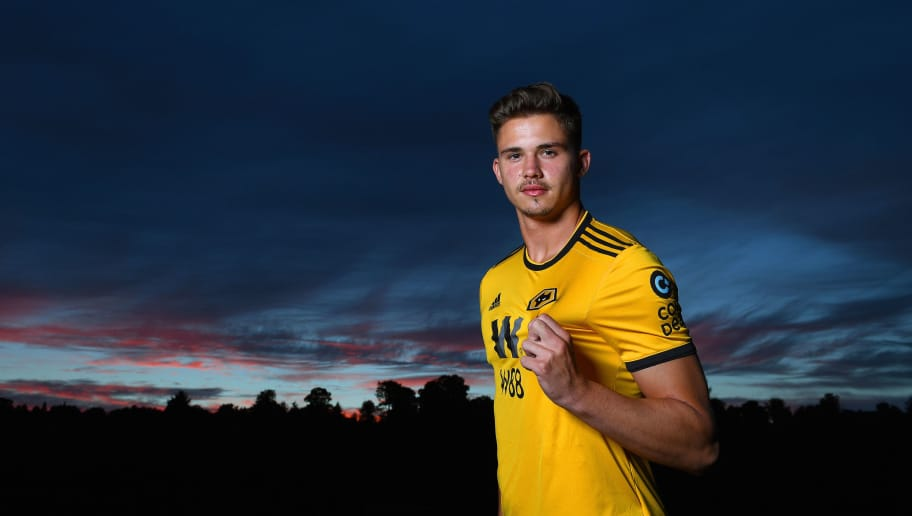 WOLVERHAMPTON, ENGLAND - AUGUST 09: Leander Dendoncker at the Sir Jack Hayward Training Ground on August 7, 2018 in Wolverhampton, England. (Photo by Wolverhampton Wanderers FC/Getty Images)