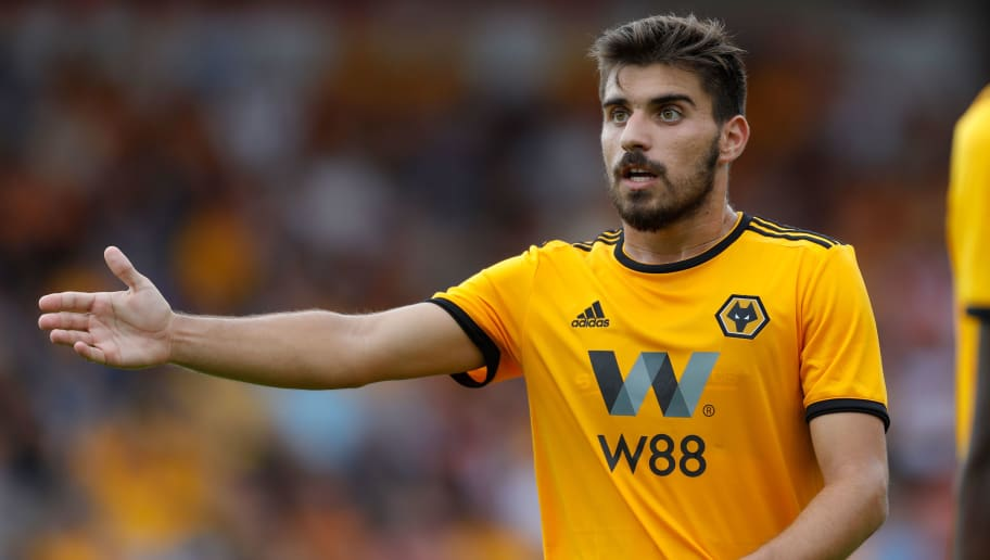 WALSALL, ENGLAND - JULY 19: Ruben Neves of Wolverhampton Wanderers during the pre-season friendly between Wolverhampton Wanderers and Ajax at Banks' Stadium on July 19, 2018 in Walsall, England. (Photo by Malcolm Couzens/Getty Images)