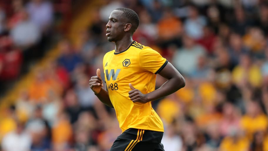 WALSALL, ENGLAND - JULY 19: Willy Boly of Wolverhampton Wanderers during the Pre Season Friendly between Wolverhampton Wanderers and Ajax at Banks' Stadium on July 19, 2018 in Walsall, England. (Photo by James Baylis - AMA/Getty Images)