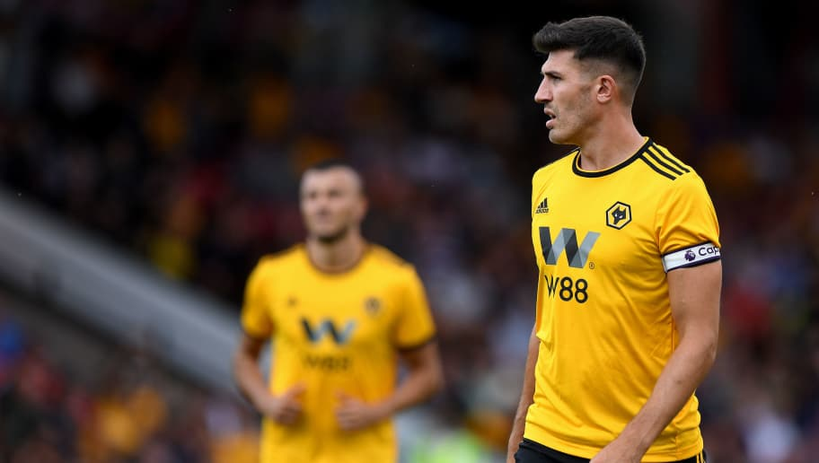 WALSALL, ENGLAND - JULY 19: Danny Batth of Wolverhampton Wanderers during a pre-season friendly between Wolverhampton Wanderers and Ajax at Banks' Stadium on July 19, 2018 in Walsall, England. (Photo by Sam Bagnall - AMA/Getty Images)
