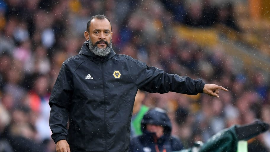 WOLVERHAMPTON, ENGLAND - AUGUST 11: Nuno Espirito Santo manager / head coach of Wolverhampton Wanderers during the Premier League match between Wolverhampton Wanderers and Everton FC at Molineux on August 11, 2018 in Wolverhampton, United Kingdom. (Photo by Sam Bagnall - AMA/Getty Images)