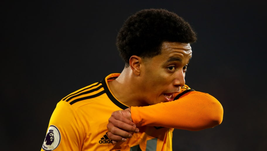 WOLVERHAMPTON, ENGLAND - NOVEMBER 25: Helder Costa of Wolverhampton Wanderers during the Premier League match between Wolverhampton Wanderers and Huddersfield Town at Molineux on November 25, 2018 in Wolverhampton, United Kingdom. (Photo by Robbie Jay Barratt - AMA/Getty Images)