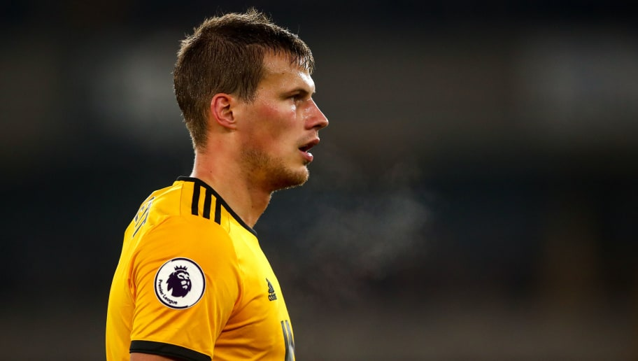 WOLVERHAMPTON, ENGLAND - NOVEMBER 25: Ryan Bennett of Wolverhampton Wanderers during the Premier League match between Wolverhampton Wanderers and Huddersfield Town at Molineux on November 25, 2018 in Wolverhampton, United Kingdom. (Photo by Robbie Jay Barratt - AMA/Getty Images)