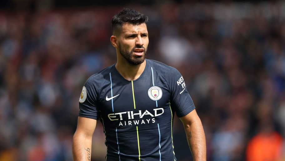 WOLVERHAMPTON, ENGLAND - AUGUST 25: Sergio Aguero of Manchester City during the Premier League match between Wolverhampton Wanderers and Manchester City at Molineux on August 25, 2018 in Wolverhampton, United Kingdom. (Photo by Sam Bagnall - AMA/Getty Images)