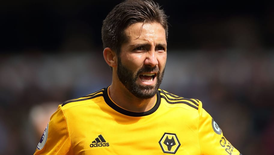 WOLVERHAMPTON, ENGLAND - AUGUST 25: Joao Moutinho of Wolverhampton Wanderers during the Premier League match between Wolverhampton Wanderers and Manchester City at Molineux on August 25, 2018 in Wolverhampton, United Kingdom. (Photo by Sam Bagnall - AMA/Getty Images)