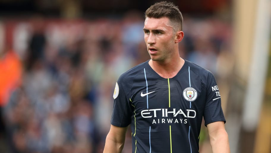 WOLVERHAMPTON, ENGLAND - AUGUST 25: Aymeric Laporte of Manchester City during the Premier League match between Wolverhampton Wanderers and Manchester City at Molineux on August 25, 2018 in Wolverhampton, United Kingdom. (Photo by Sam Bagnall - AMA/Getty Images)