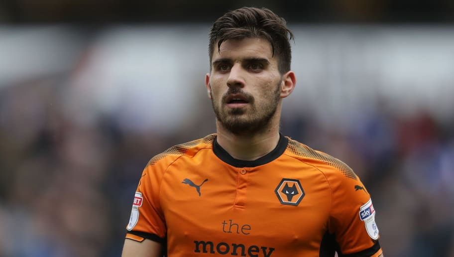 WOLVERHAMPTON, ENGLAND - APRIL 28: Ruben Neves of Wolverhampton Wanderers in action during the Sky Bet Championship match between Wolverhampton Wanderers and Sheffield Wednesday at Molineux on April 28, 2018 in Wolverhampton, England. (Photo by Richard Heathcote/Getty Images)