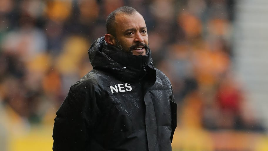 WOLVERHAMPTON, ENGLAND - APRIL 28: Nuno Espirito Santo, Manager of Wolverhampton Wanderers looks on during the Sky Bet Championship match between Wolverhampton Wanderers and Sheffield Wednesday at Molineux on April 28, 2018 in Wolverhampton, England. (Photo by Richard Heathcote/Getty Images)