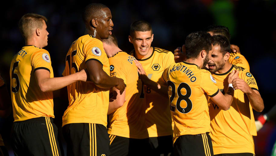 WOLVERHAMPTON, ENGLAND - SEPTEMBER 29:Jonny Otto of Wolverhampton Wanderers celebrates after scoring a goal to make it 2-0 during the Premier League match between Wolverhampton Wanderers and Southampton FC at Molineux on September 29, 2018 in Wolverhampton, United Kingdom. (Photo by Sam Bagnall - AMA/Getty Images)