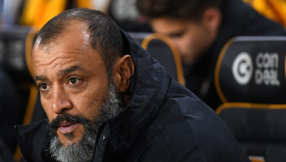 WOLVERHAMPTON, ENGLAND - NOVEMBER 03: Nuno Espirito Santo the head coach / manager of Wolverhampton Wanderers during the Premier League match between Wolverhampton Wanderers and Tottenham Hotspur at Molineux on November 3, 2018 in Wolverhampton, United Kingdom. (Photo by Sam Bagnall - AMA/Getty Images)