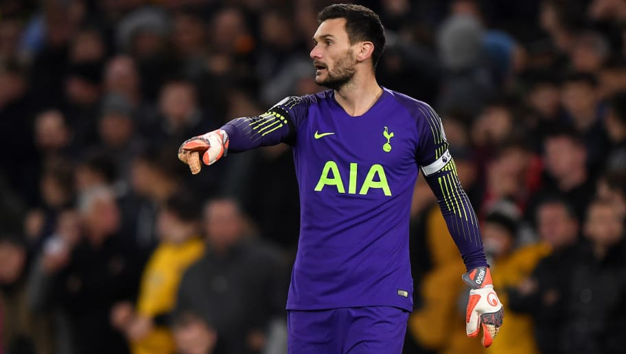 WOLVERHAMPTON, ENGLAND - NOVEMBER 03: Hugo Lloris of Tottenham Hotspur during the Premier League match between Wolverhampton Wanderers and Tottenham Hotspur at Molineux on November 3, 2018 in Wolverhampton, United Kingdom. (Photo by Sam Bagnall - AMA/Getty Images)