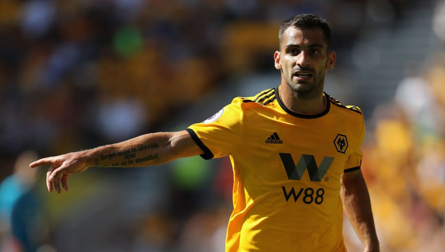 WOLVERHAMPTON, ENGLAND - AUGUST 04:  Jonny Castro Otto of Wolverhampton Wanderers looks on during the pre-season friendly match between Wolverhampton Wanderers and Villareal at Molineux on August 4, 2018 in Wolverhampton, England.  (Photo by David Rogers/Getty Images)