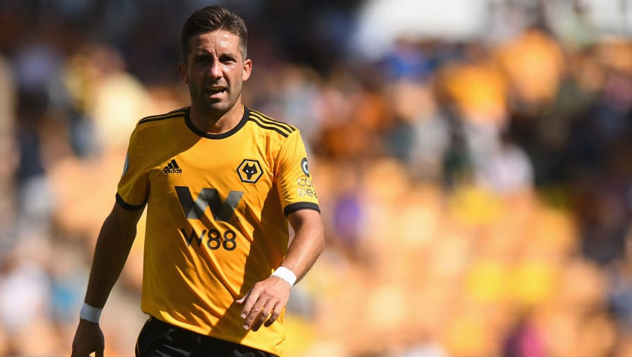 WOLVERHAMPTON, ENGLAND - AUGUST 04: Joao Moutinho of Wolverhampton Wanderers during a pre-season friendly between Wolverhampton Wanderers and Villarreal at Molineux on August 4, 2018 in Wolverhampton, England. (Photo by Sam Bagnall - AMA/Getty Images)