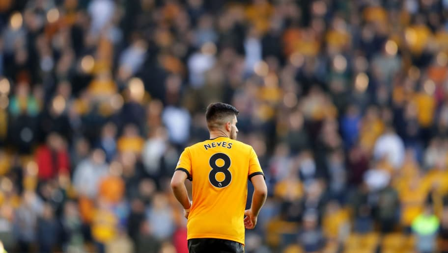 WOLVERHAMPTON, ENGLAND - OCTOBER 20:  Ruben Neves of Wolves in action during the Premier League match between Wolverhampton Wanderers and Watford FC at Molineux on October 20, 2018 in Wolverhampton, United Kingdom. (Photo by Richard Heathcote/Getty Images)