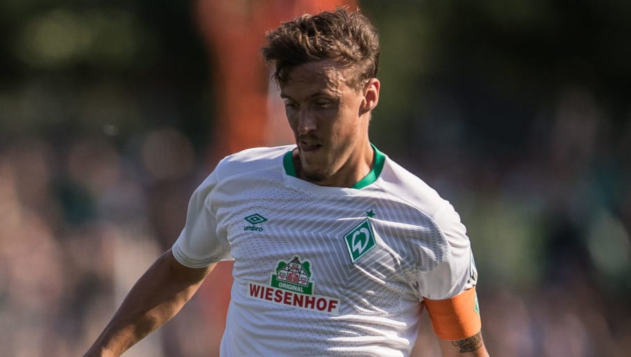 WORMS, GERMANY - AUGUST 18: Max Kruse #10 of Werder Bremen controls the ball during Wormatia Worms and Werder Bremen DFB Cup first round match on August 18, 2018 in Worms, Germany. (Photo by Maja Hitij/Bongarts/Getty Images)