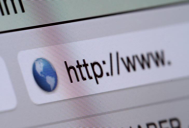 Start of World Wide Web address on internet browser.
