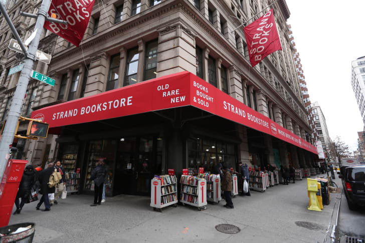 The exterior of The Strand Bookstore in New York City.