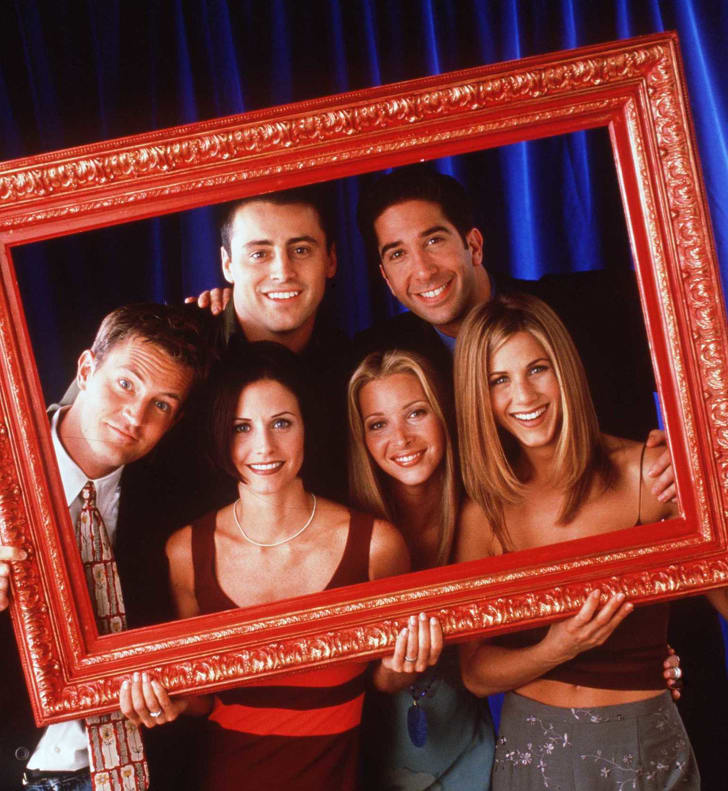The cast of 'Friends.' Clockwise from top left: Matt LeBlanc, David Schwimmer, Matthew Perry, Courteney Cox, Lisa Kudrow & Jennifer Aniston