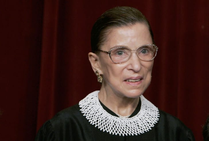 Ruth Bader Ginsburg in justice robes.