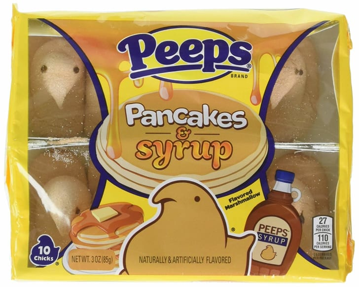 Pancakes and syrup-flavored Peeps
