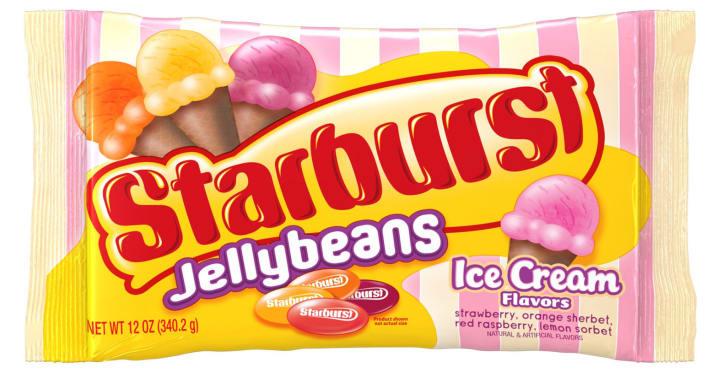 Starburst ice cream jellybeans
