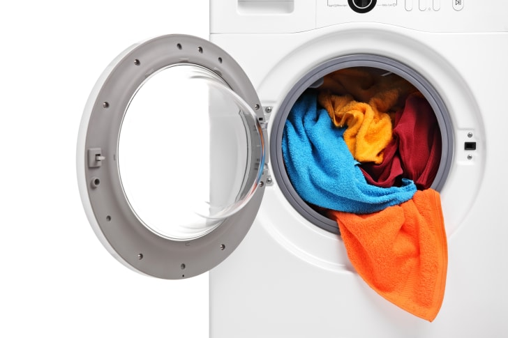 dryer filled with towels