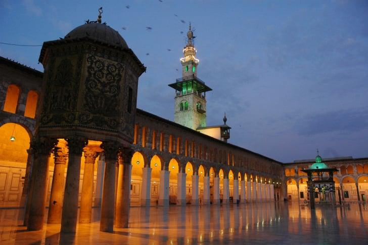 Umayyad Mosque Courtyard in Damascus, Syria