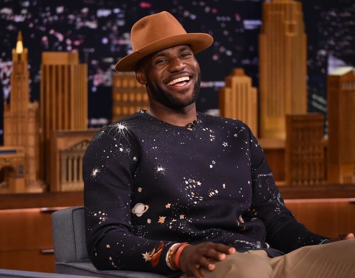 LeBron James on the set of 'The Tonight Show Starring Jimmy Fallon.'