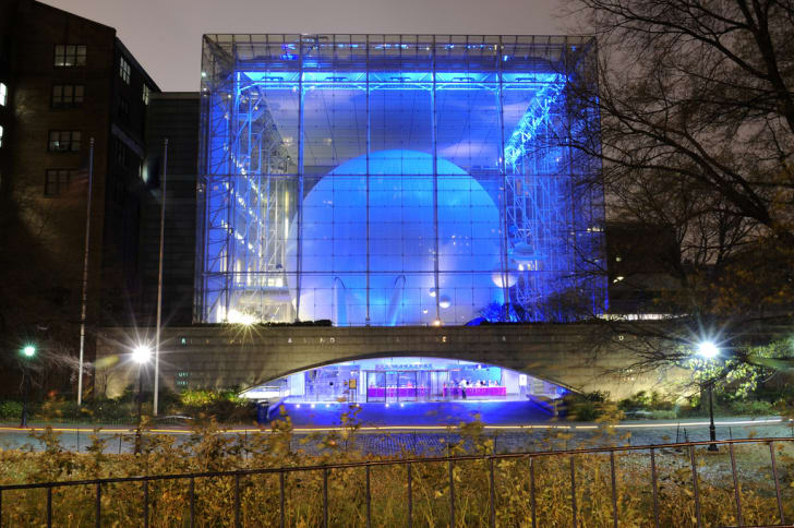 The Rose Center at night