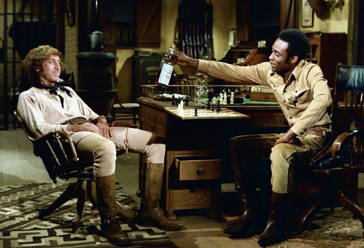 Gene Wilder and Cleavon Little in Blazing Saddles (1974)