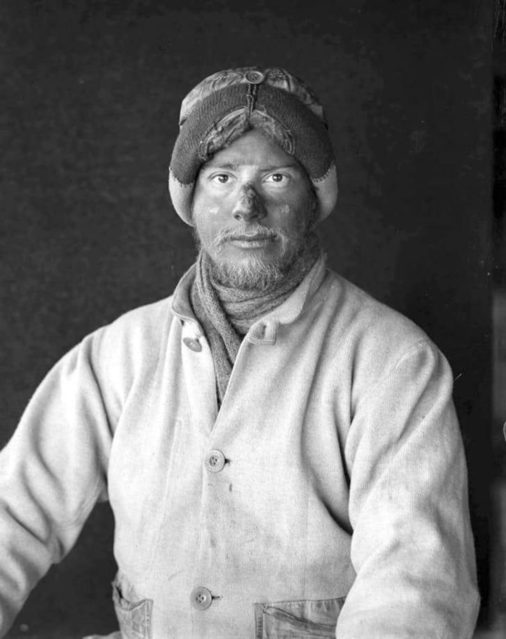 An image of Antarctic explorer Apsley Cherry-Garrard.