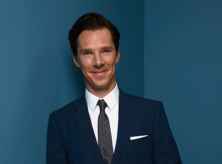 Actor Benedict Cumberbatch of 'The Fifth Estate' poses at the Guess Portrait Studio during 2013 Toronto International Film Festival on September 6, 2013 in Toronto, Canada