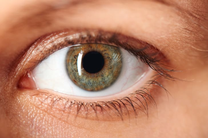 A close-up of an eye