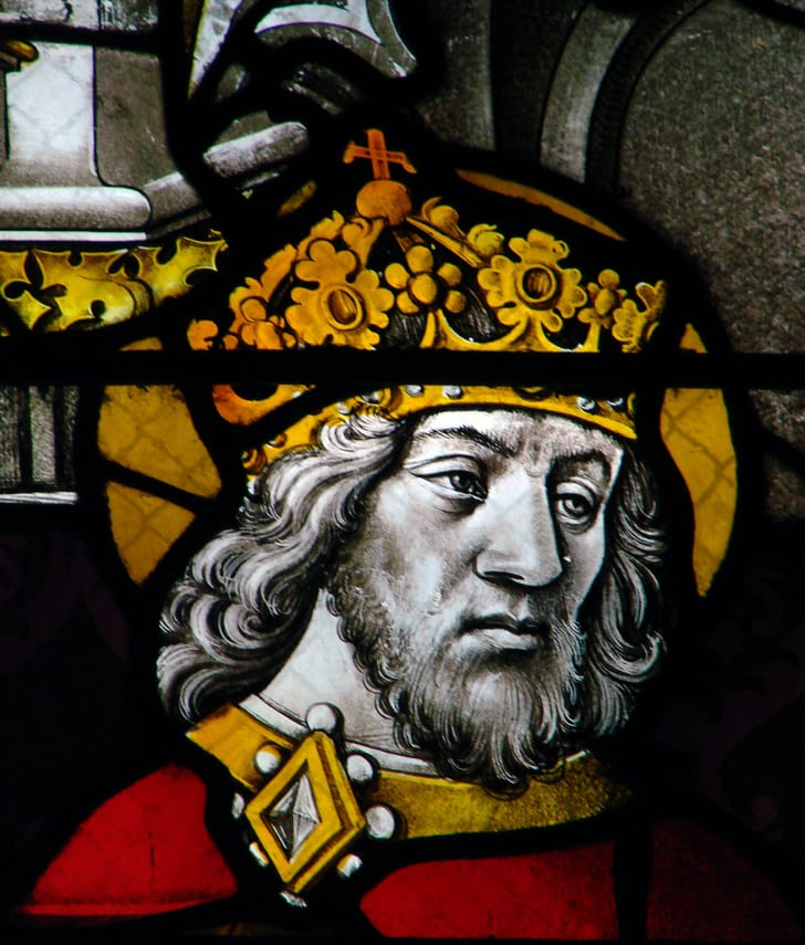 Representation of Charlemagne from the Cathedral of Moulins, France, end of the 15th century