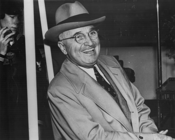 President Harry Truman laughing